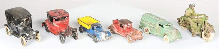 Lot Of 6: Cast Iron Vehicles.