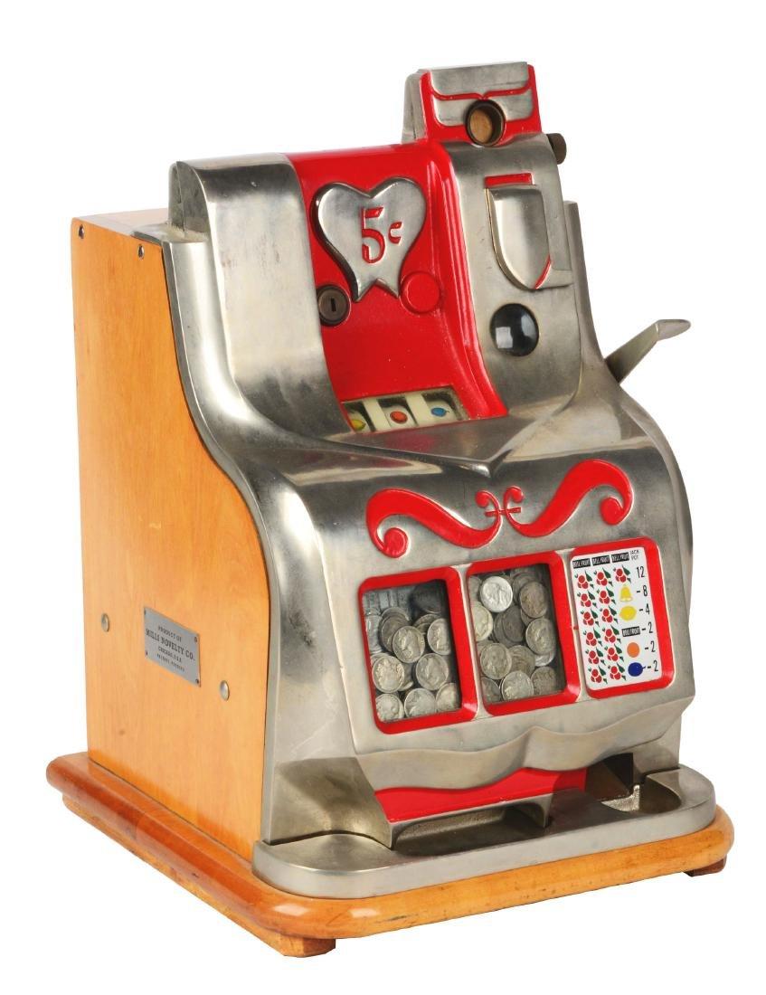 **5¢ Mills Novelty Co. QT Sweetheart Slot Machine.