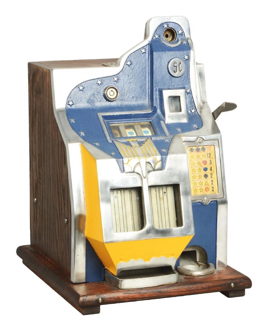 **5¢ Mills Q.T. Firebird Slot Machine.