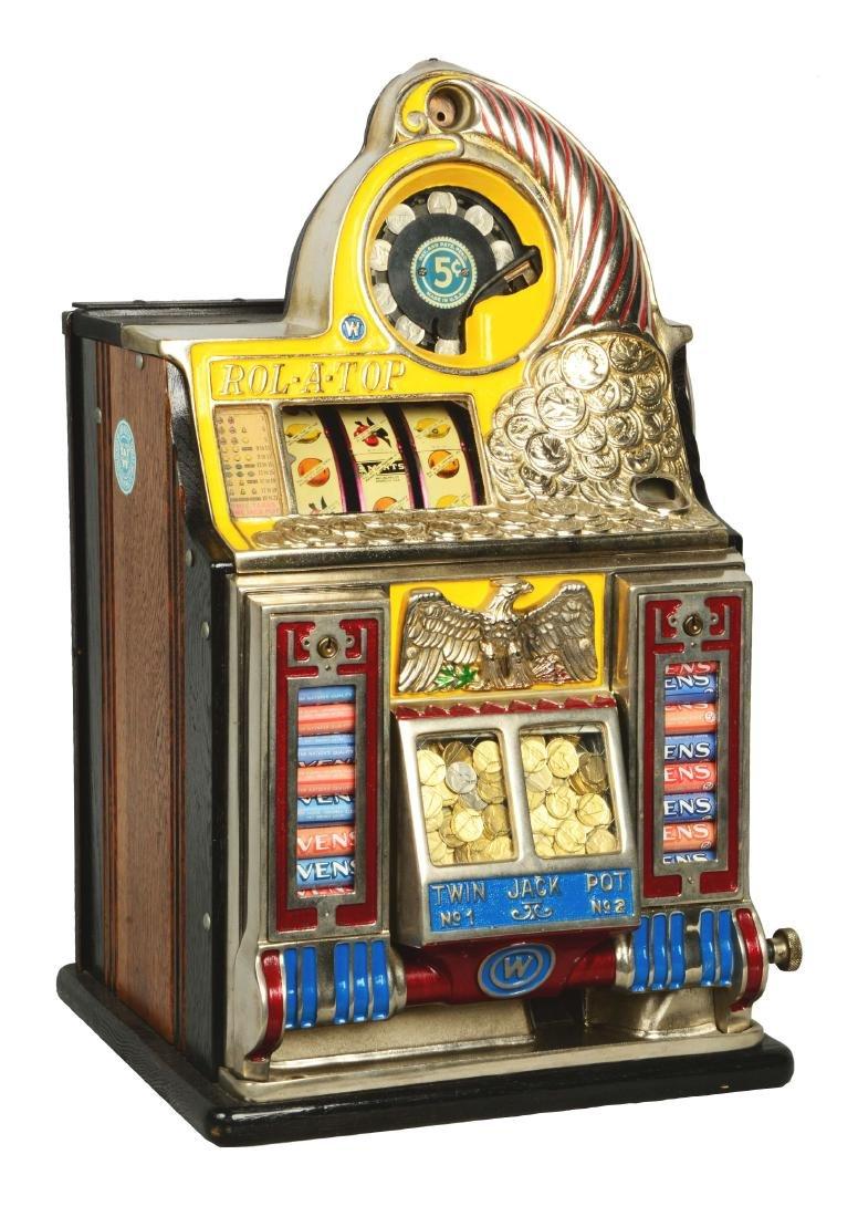 **5¢ Watling Rol-A-Top Front Vendor Slot Machine.