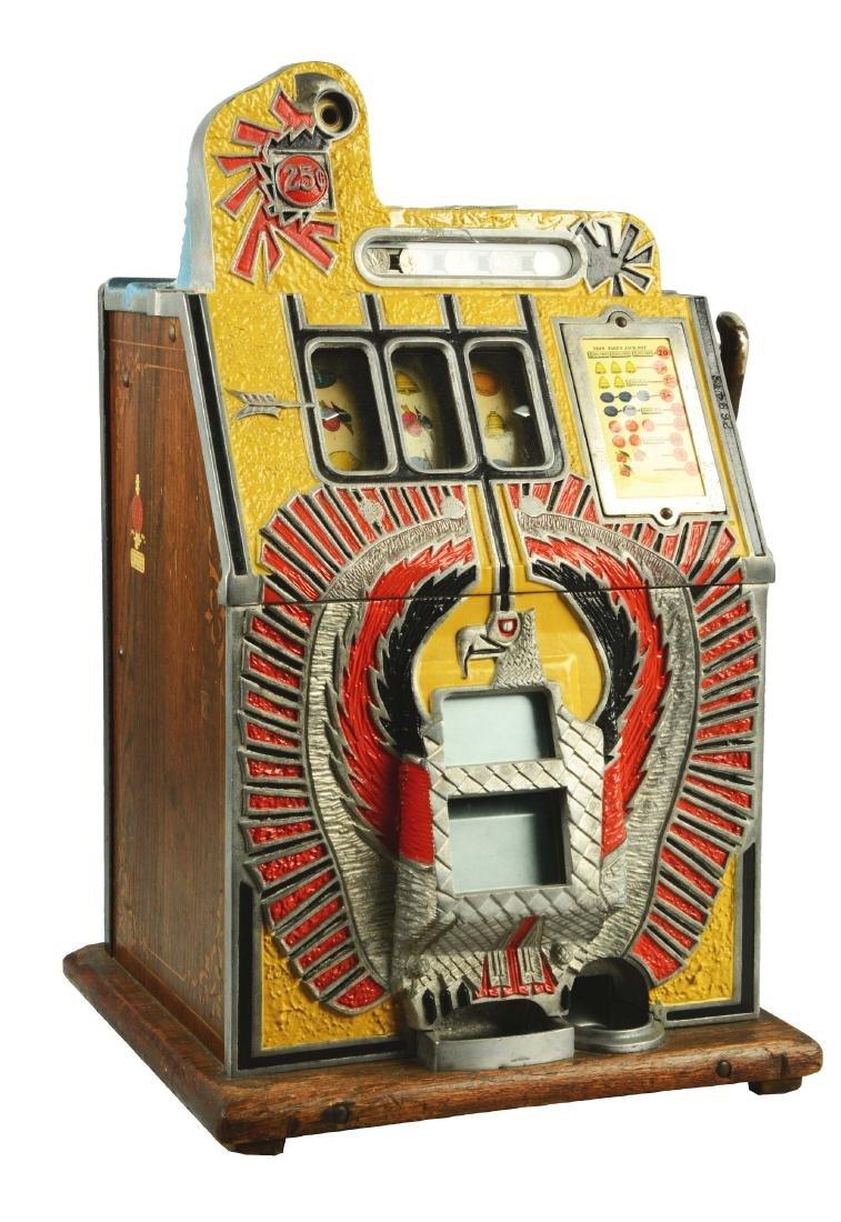 **25¢ Mills War Eagle Slot Machine.