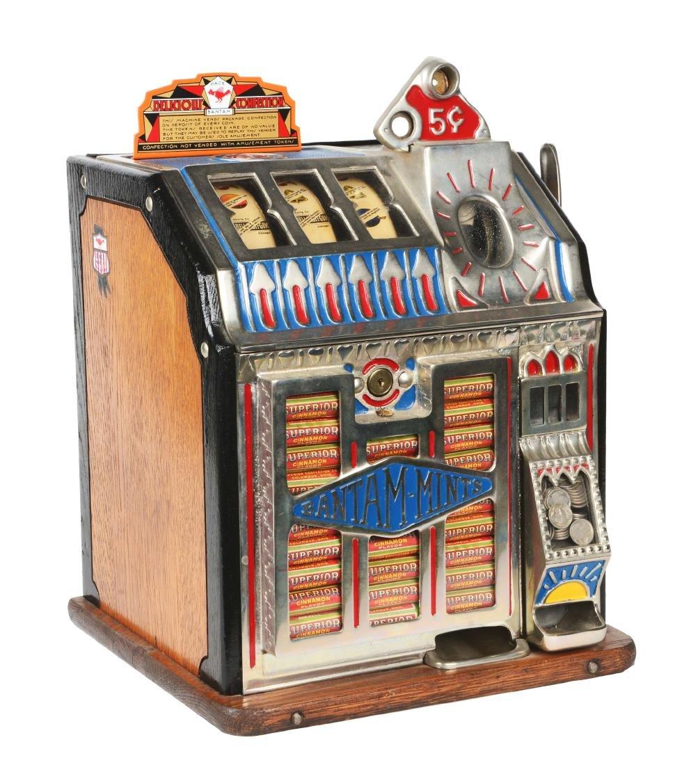 **5¢ Pace Bantam Reserve Jackpot Vender Slot Machine.