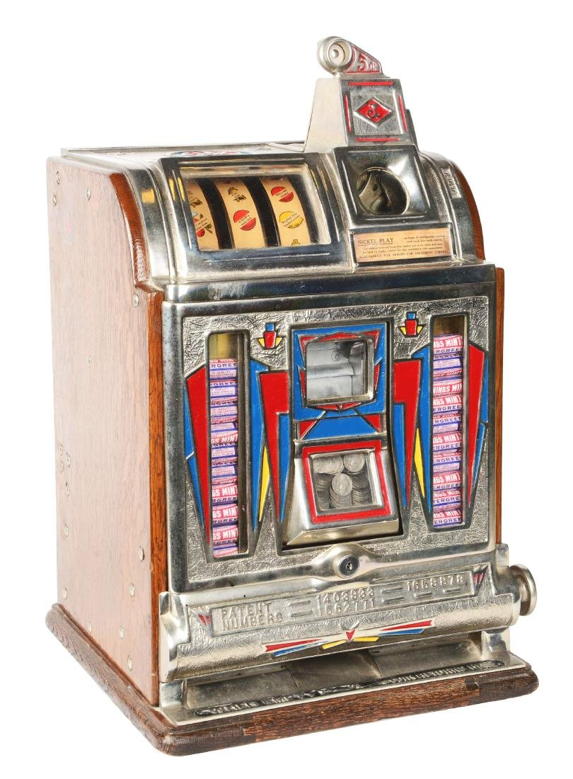 **5¢ O.D. Jennings Front Vendor Slot Machine.