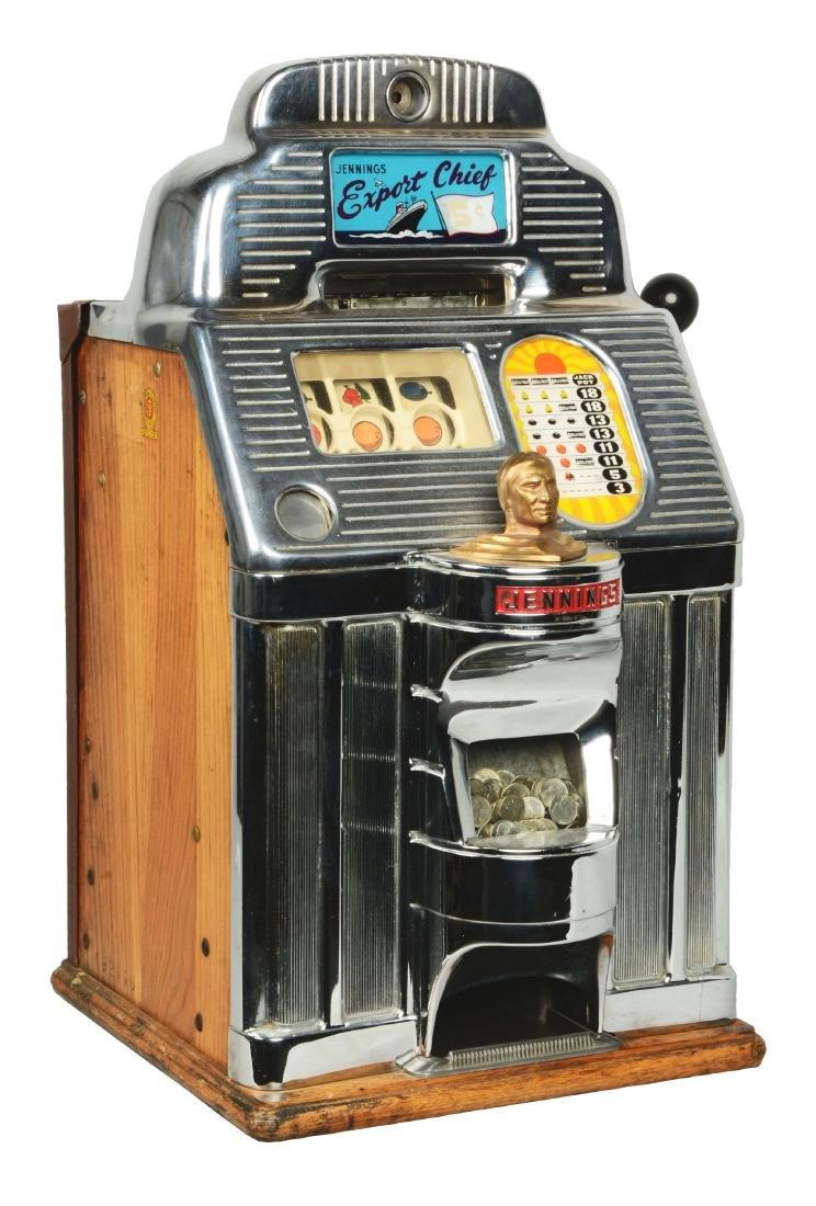 **5¢ Jennings Export Chief Slot Machine.