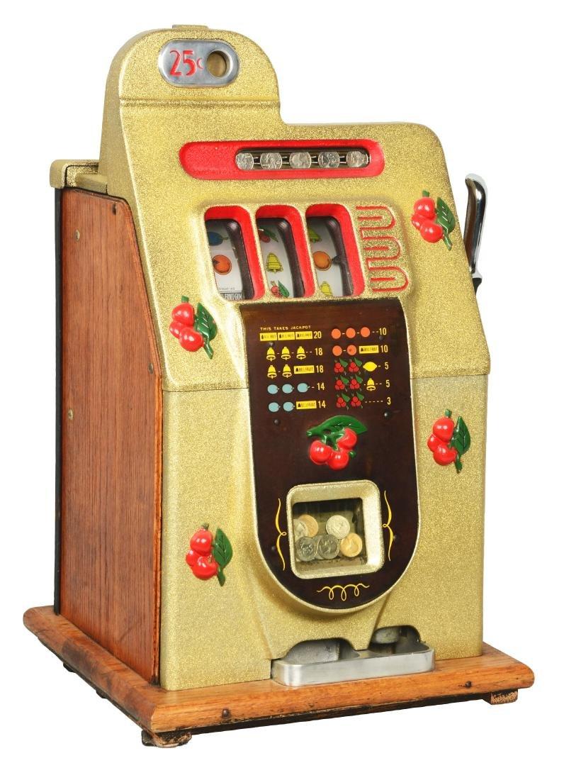 **25¢ Mills Black Cherry Slot Machine.