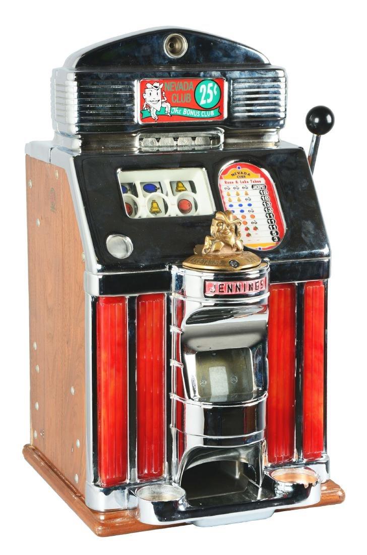 **25¢ O.D. Jennings Nevada Club Bonus Club Slot