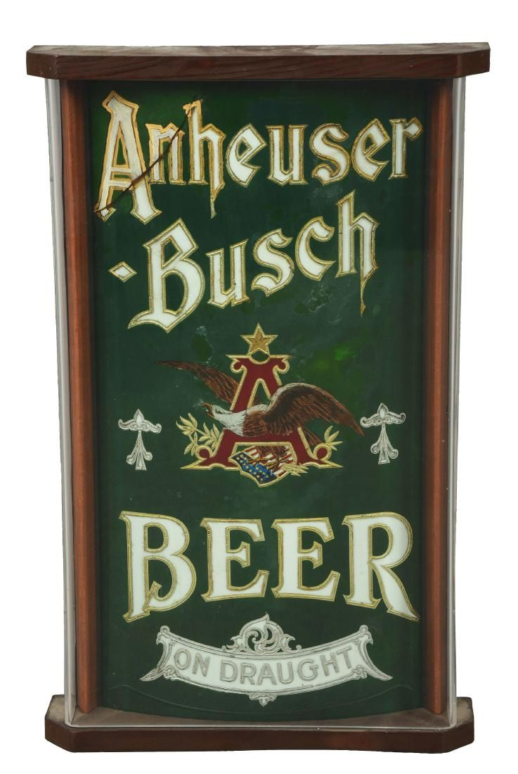 Anheuser Busch Beer No Draught Sign In Case.