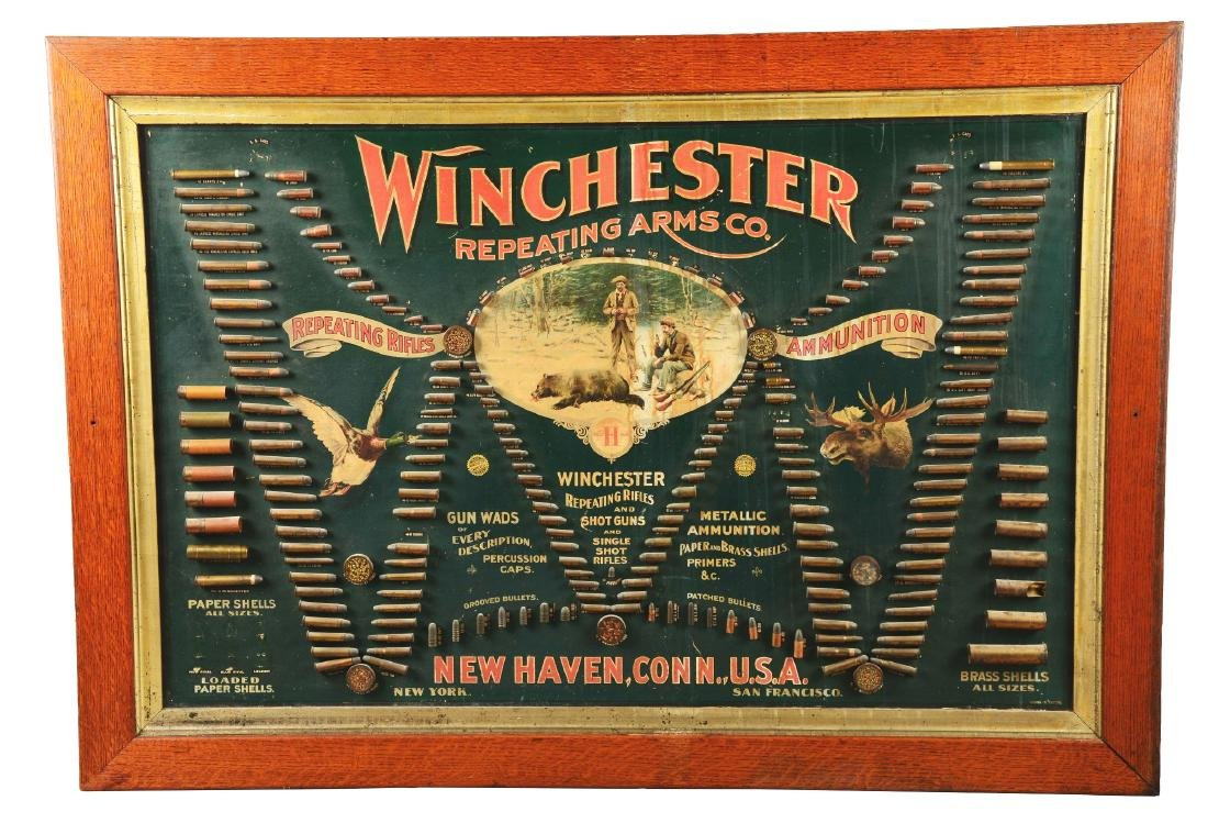 Winchester Repeating Arms Co. Ammunition Store Display.