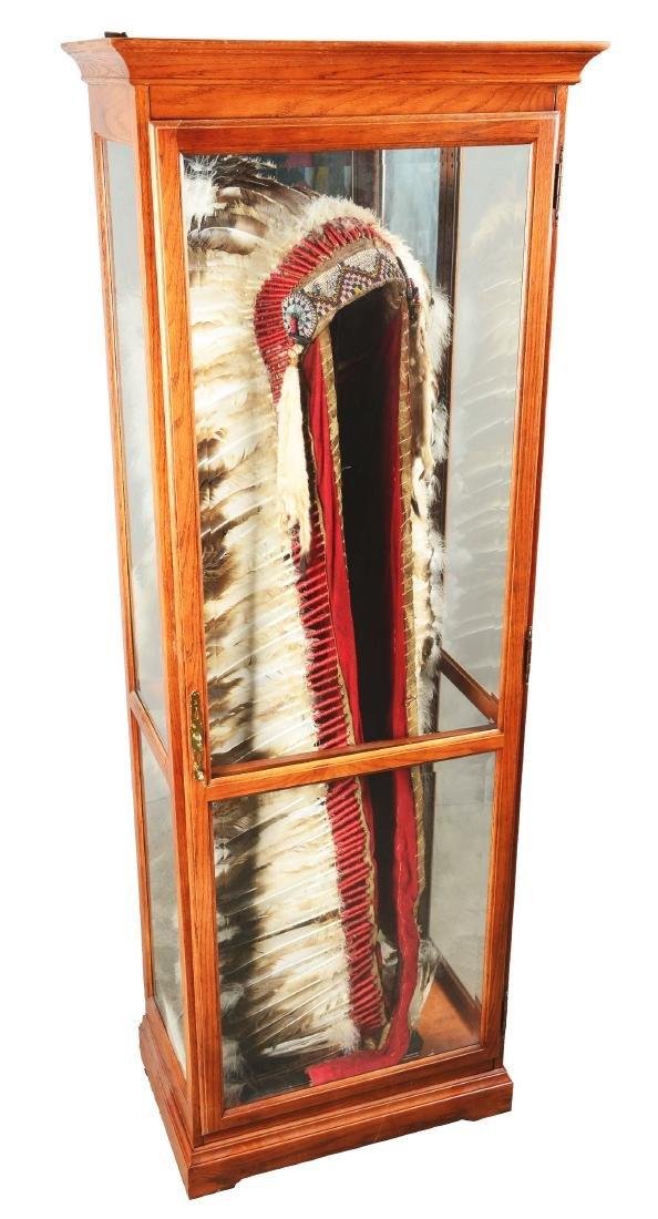 Native American Headdress Display.