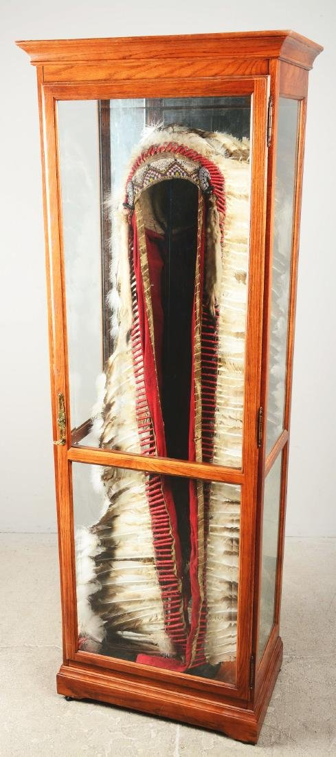 Native American Headdress Display. - 2