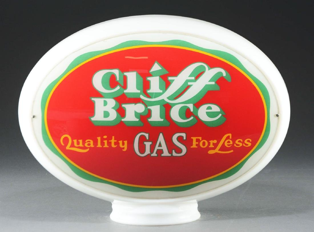 Cliff Brice Quality Gas Complete Oval Globe.