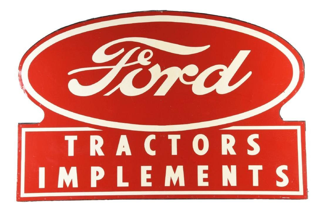 Ford Tractors & Implements New Old Stock Tin Sign w/
