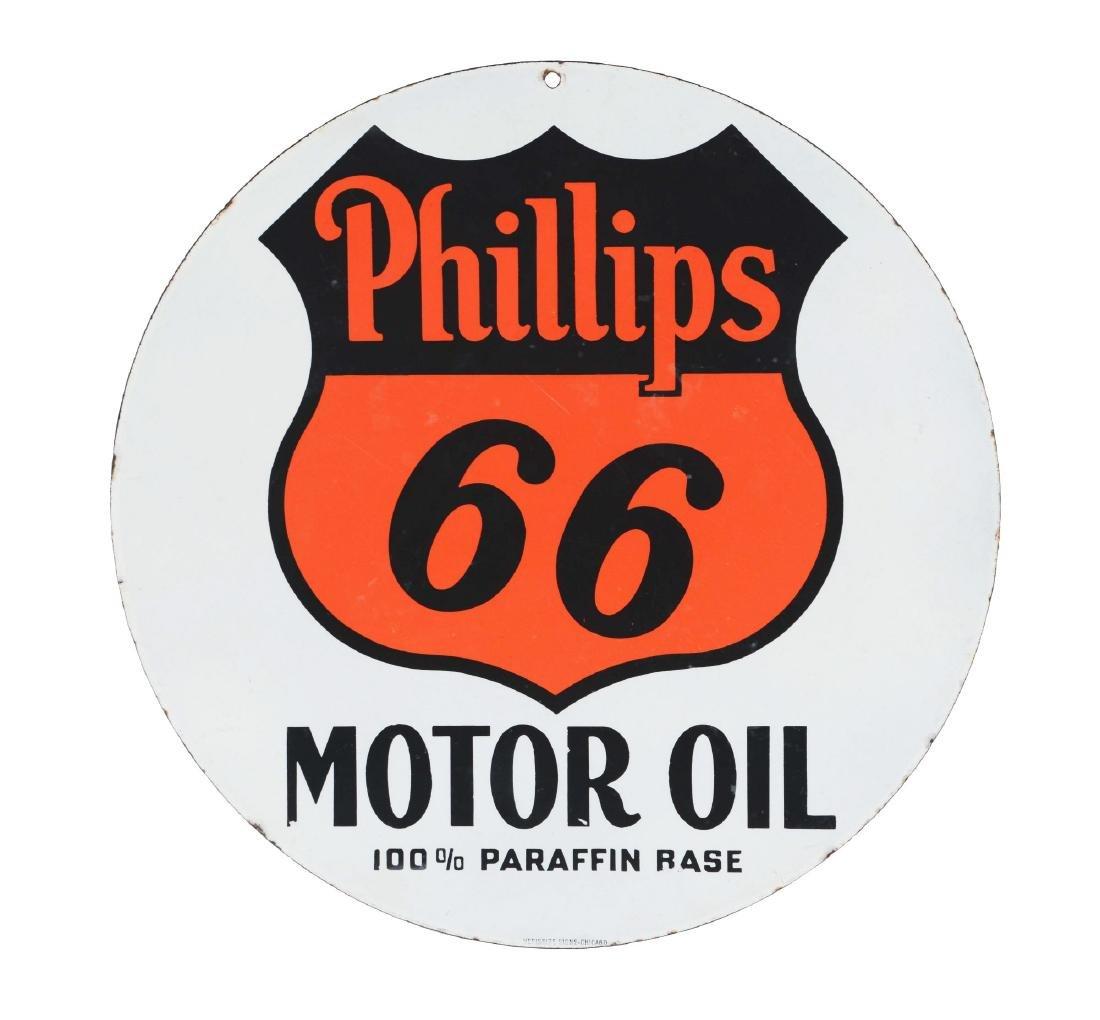 Phillips 66 Motor Oils Porcelain Sign.