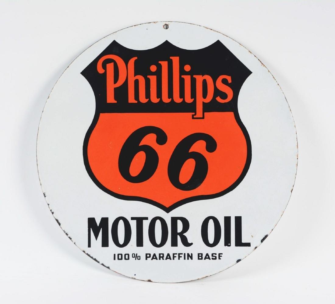 Phillips 66 Motor Oils Porcelain Sign. - 3
