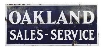 Oakland Sales  Service Porcelain Sign