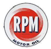 Standard RPM Motor Oil Porcelain Sign