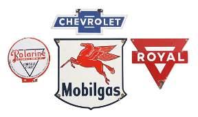 Lot Of 4 Gas Oil  Automotive Porcelain Signs