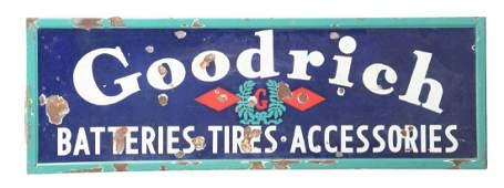 Goodrich Batteries Tires  Accessories Porcelain Sign