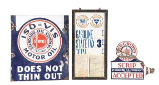 Lot Of 3: Standard Red Crown Gasoline & Oil Advertising