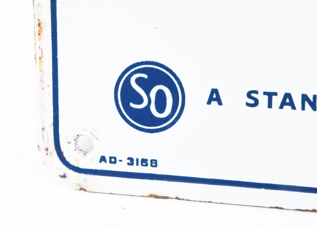 Lot Of 3: Texaco Gulf & Standard Porcelain Gasoline - 3
