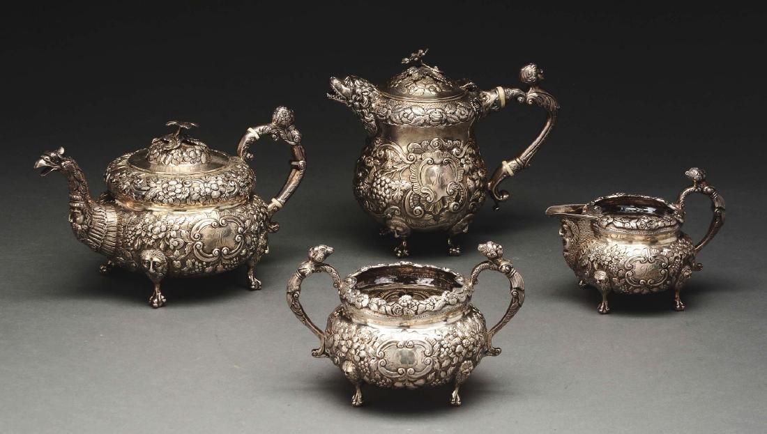 Irish Silver Assembled Four Piece Tea  Set. - 2