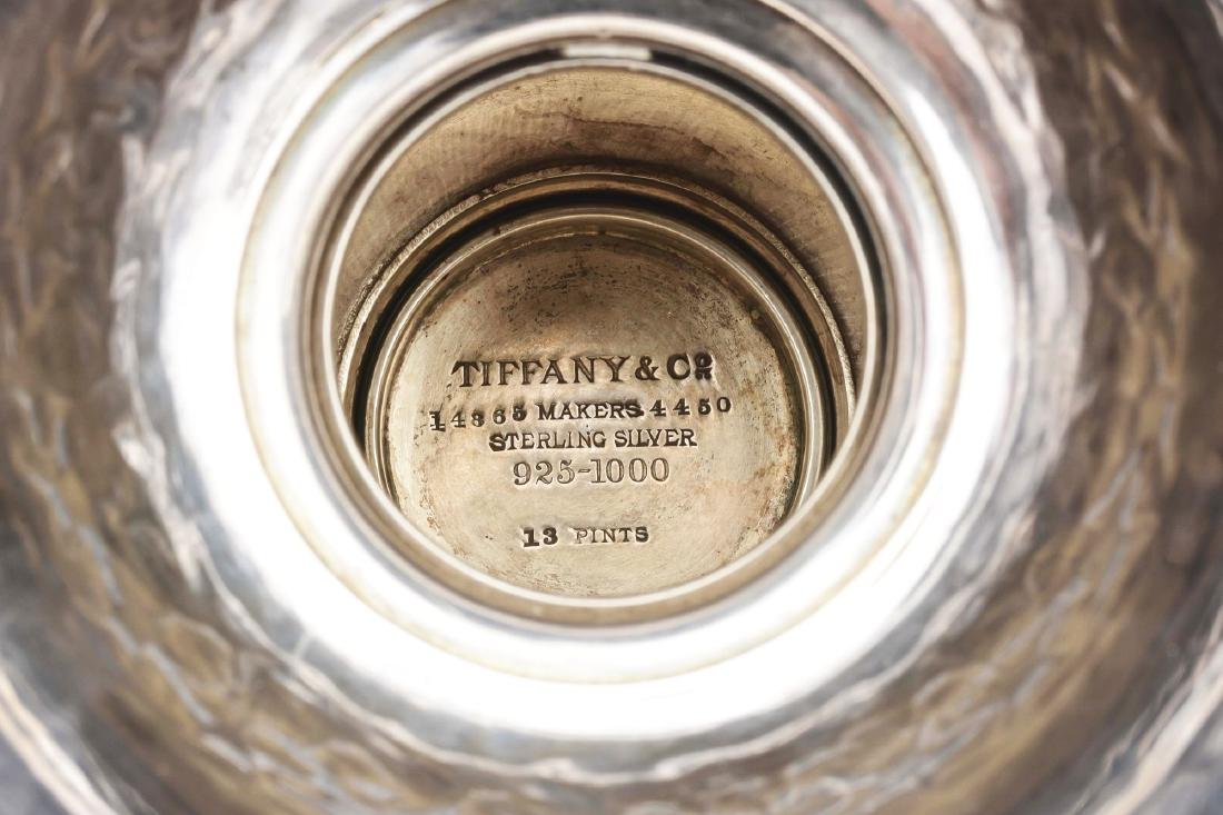 A Tiffany Sterling and Steel Three Handled Cup. - 7