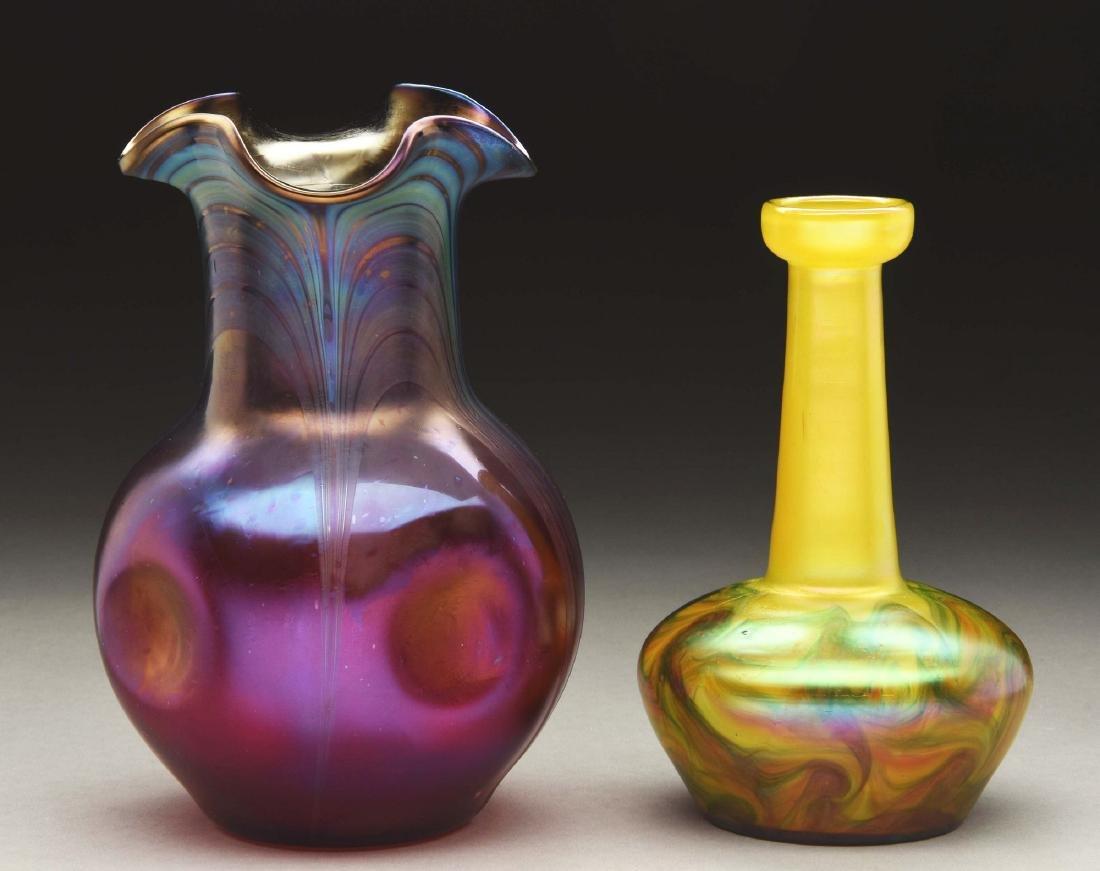 Lot Of 2 Bohemian Vases.