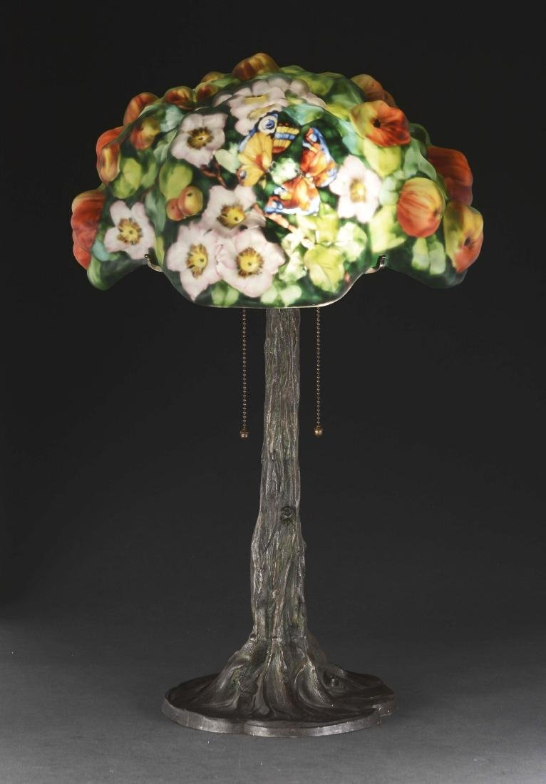 Pairpoint Puffy Apple Tree Table Lamp.