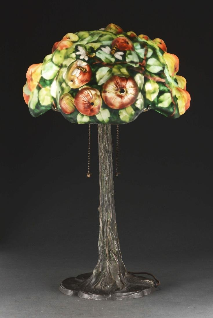 Pairpoint Puffy Apple Tree Table Lamp. - 2
