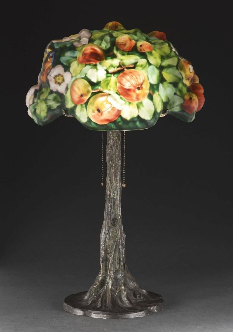 Pairpoint Puffy Apple Tree Table Lamp. - 4