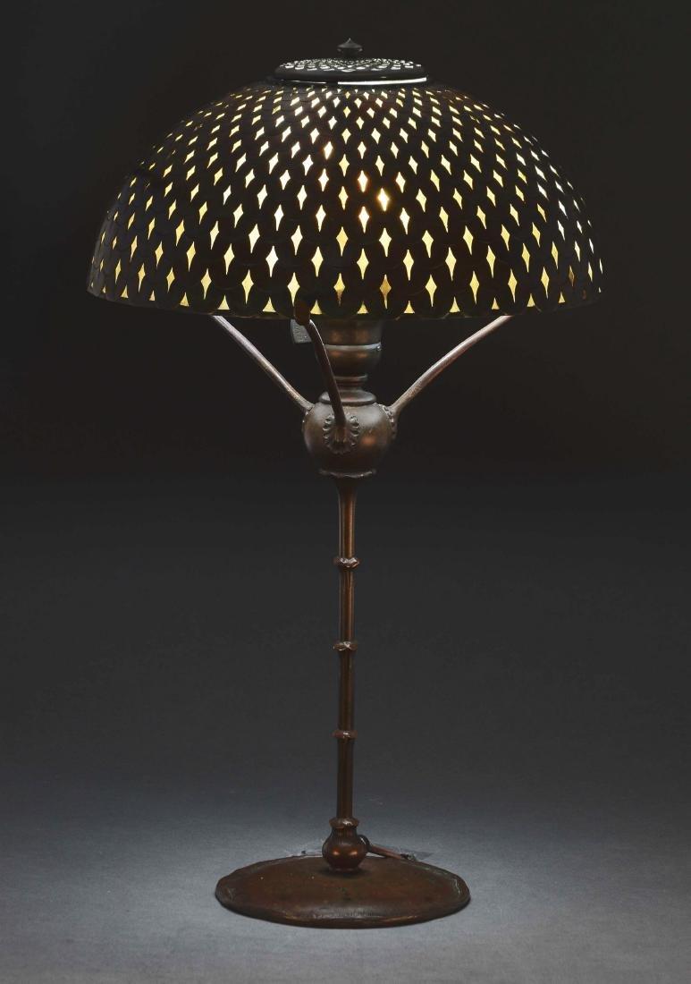 Tiffany Studios Fishscale Overlay Table Lamp.