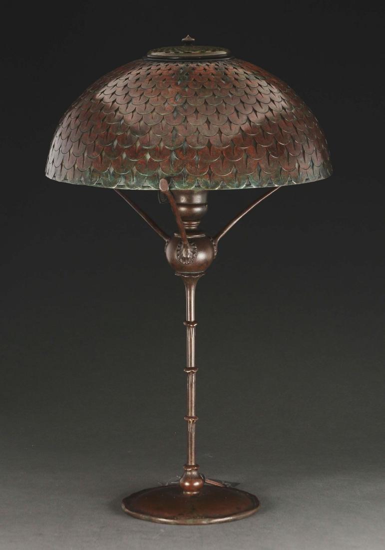 Tiffany Studios Fishscale Overlay Table Lamp. - 2