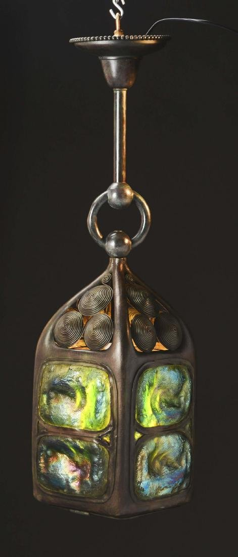 Tiffany Studios Turtleback Lantern. - 2