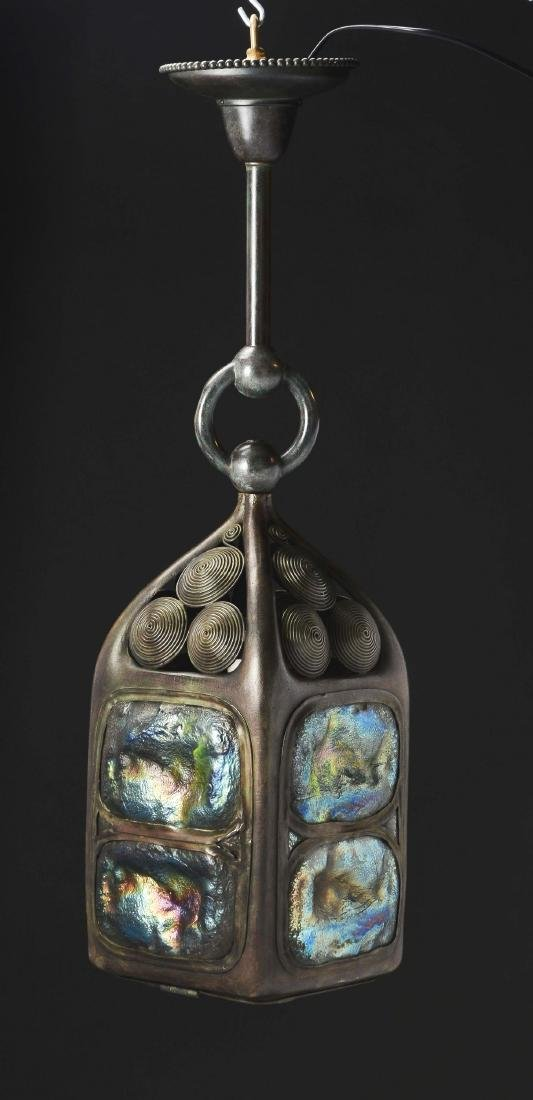 Tiffany Studios Turtleback Lantern. - 4
