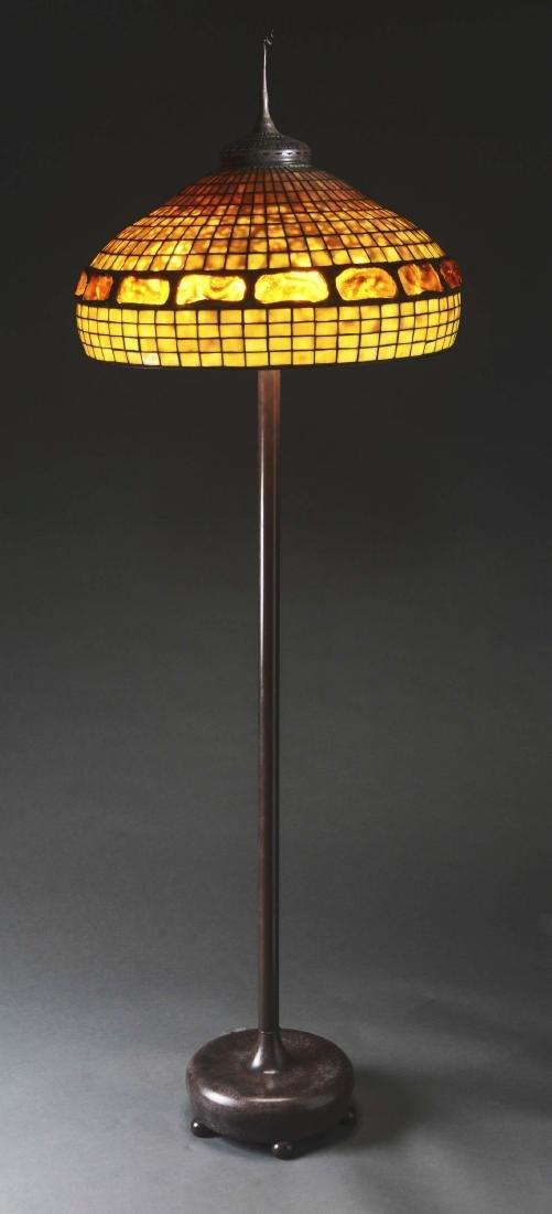 Tiffany Studios Turtleback Shade on a Reproduction - 2