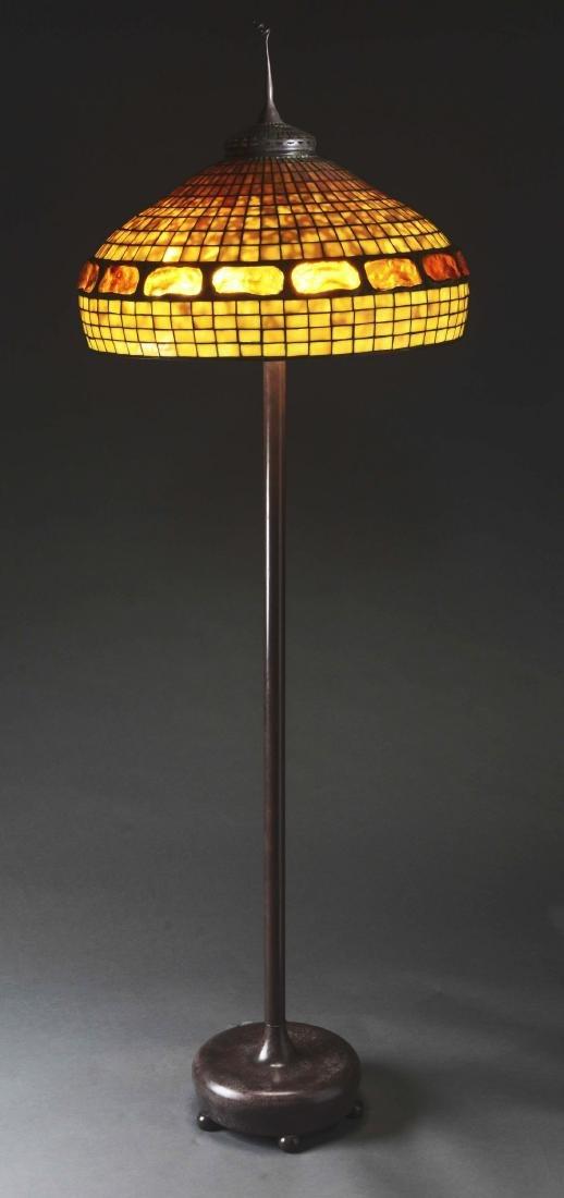 Tiffany Studios Turtleback Shade on a Reproduction - 3