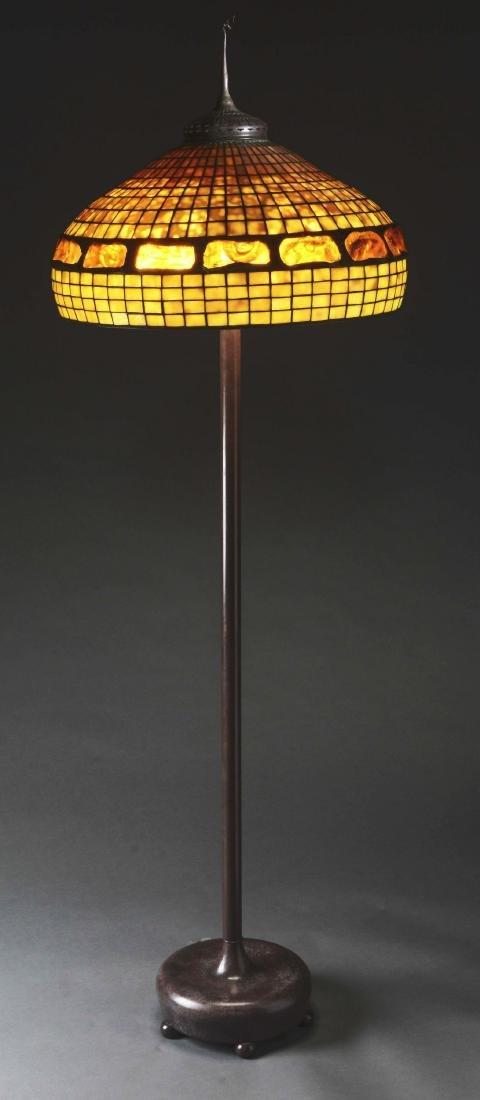 Tiffany Studios Turtleback Shade on a Reproduction - 4