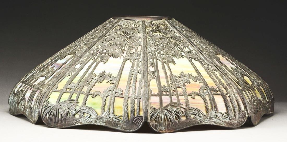 Handel Metal Overlay Table Lamp. - 2