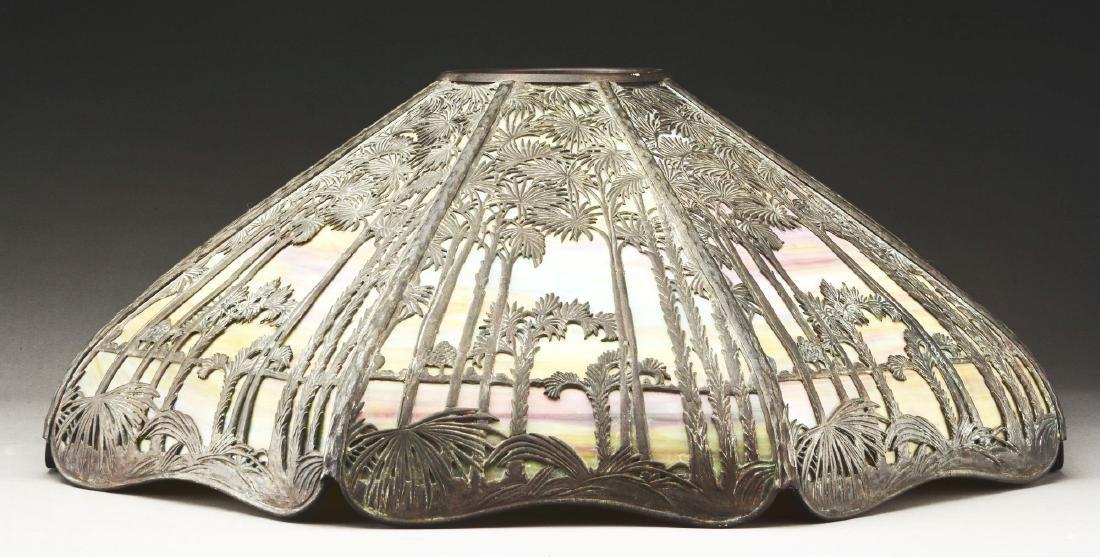 Handel Metal Overlay Table Lamp. - 3