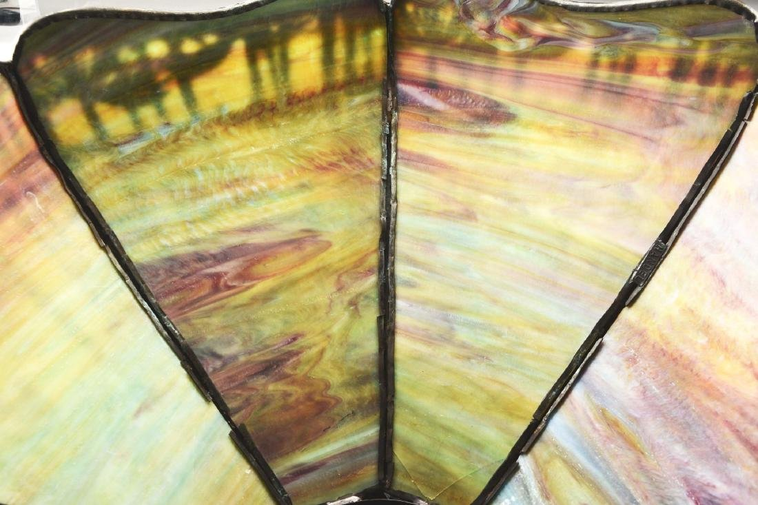 Handel Metal Overlay Table Lamp. - 5