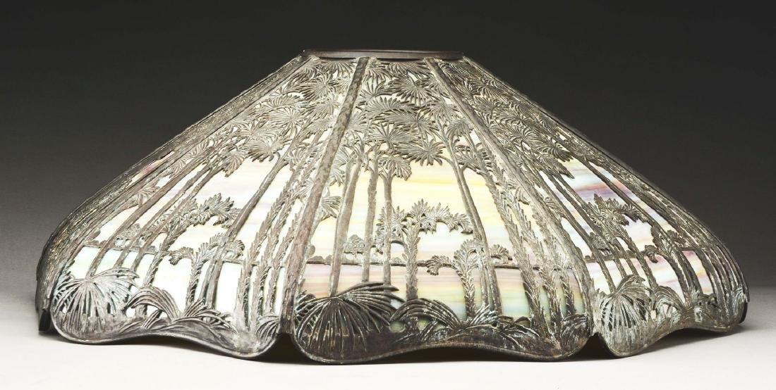 Handel Metal Overlay Table Lamp. - 6