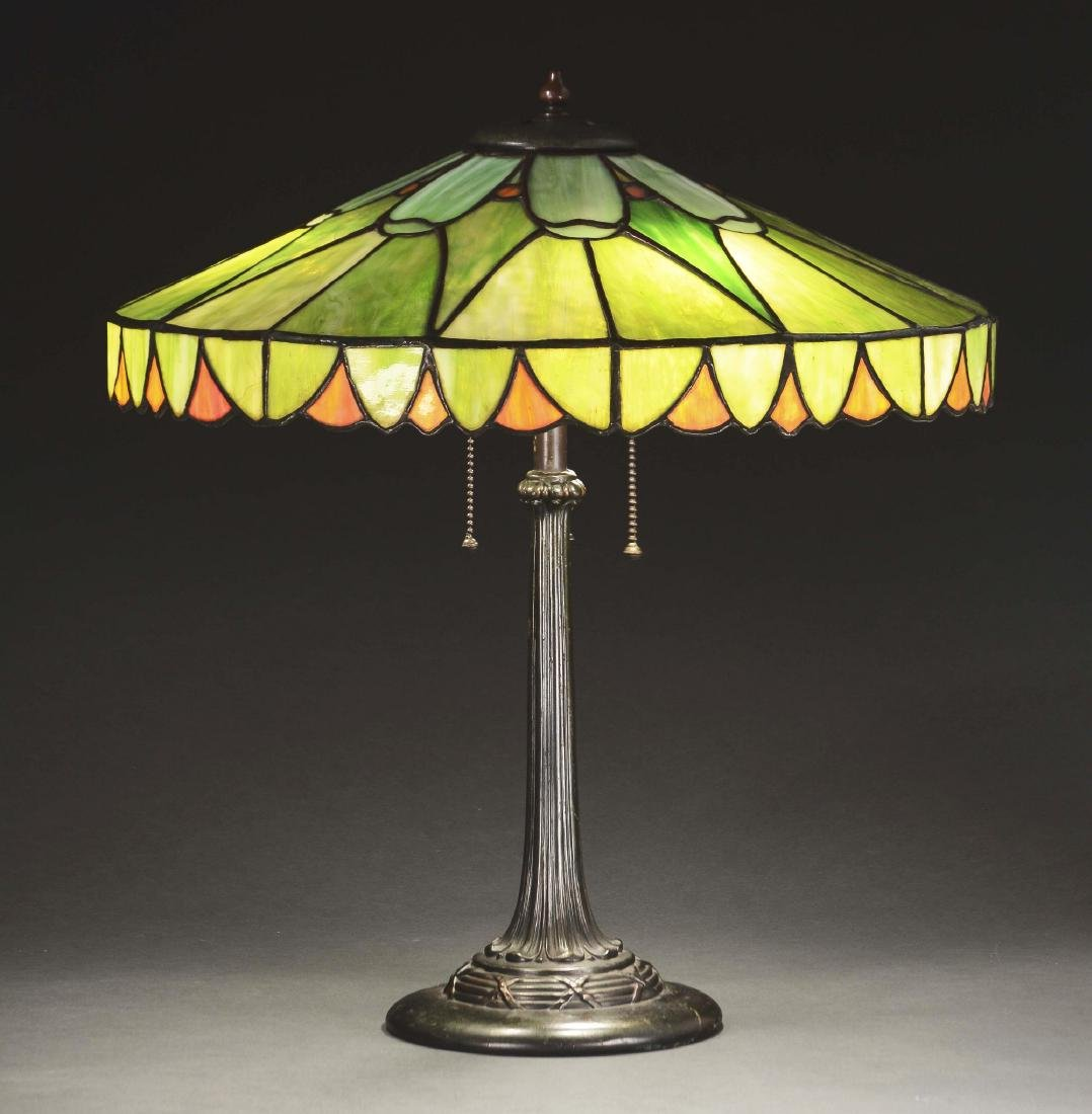 Duffner & Kimberly Leaded Glass Table Lamp.