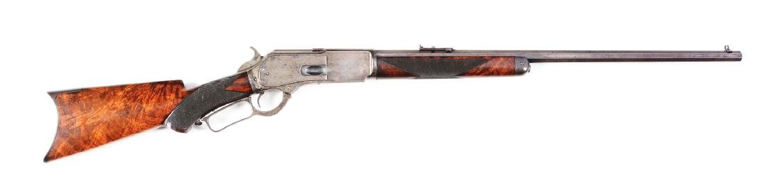 (A) Deluxe Winchester Model 1876 Lever Action Rifle.