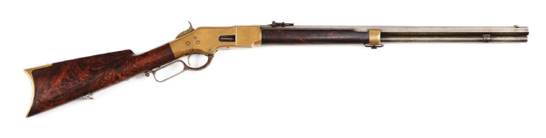 (A) Winchester 3rd Model 1866 Lever Action Rifle with