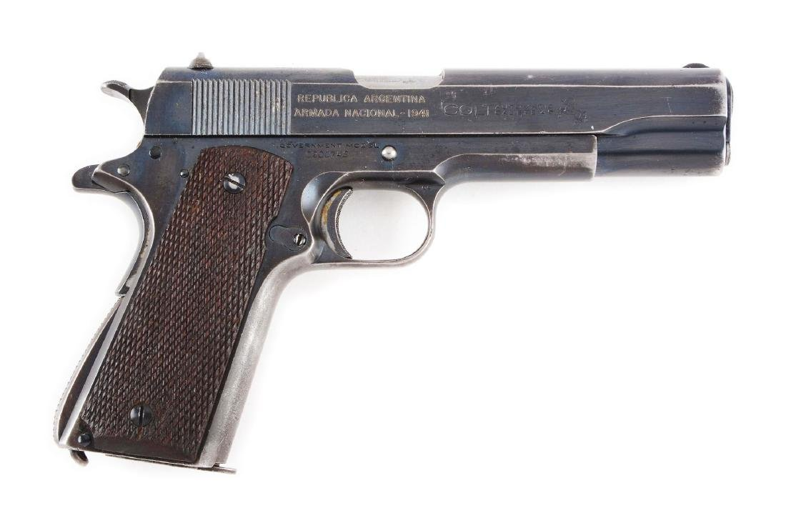 (C) Rare Argentine 1941 Navy Colt Model 1911