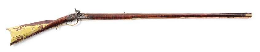 (A) Fullstock Percussion Kentucky Rifle by Samuel