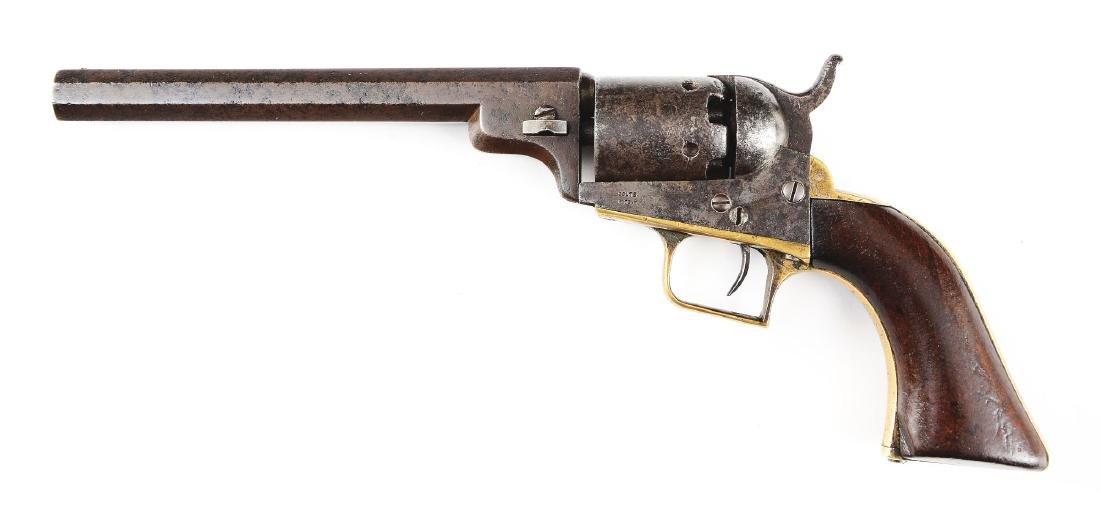 (A) Colt Model 1848 Baby Dragoon Percussion Revolver. - 2
