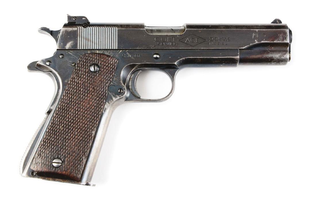 (C) Pre-War Colt Service Model Ace .22 Caliber