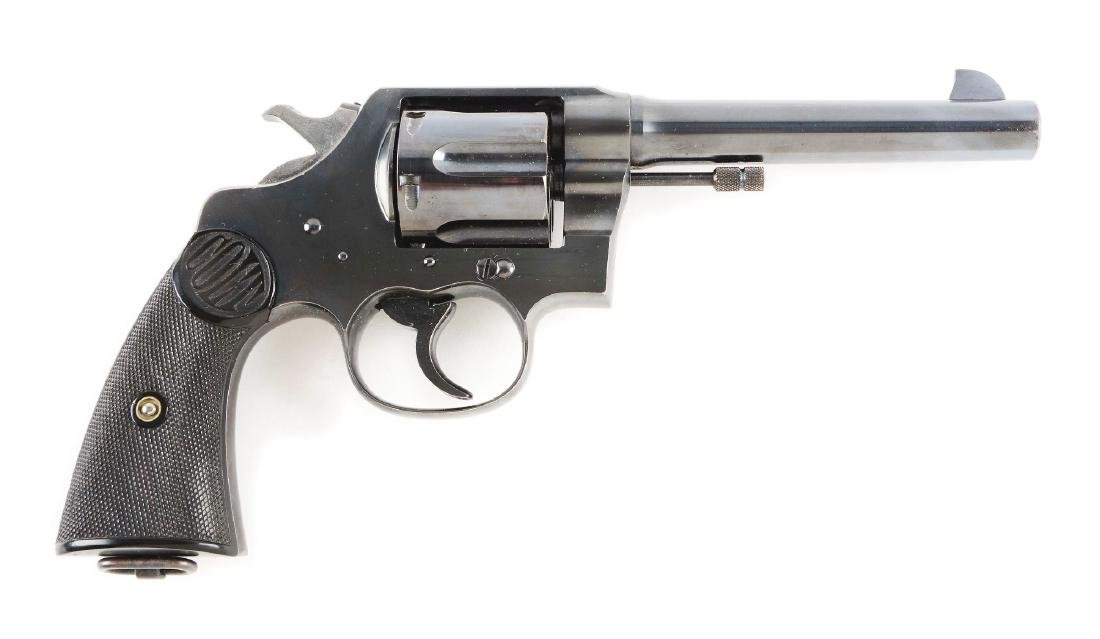 (C) Near New Colt New Service Double Action Revolver