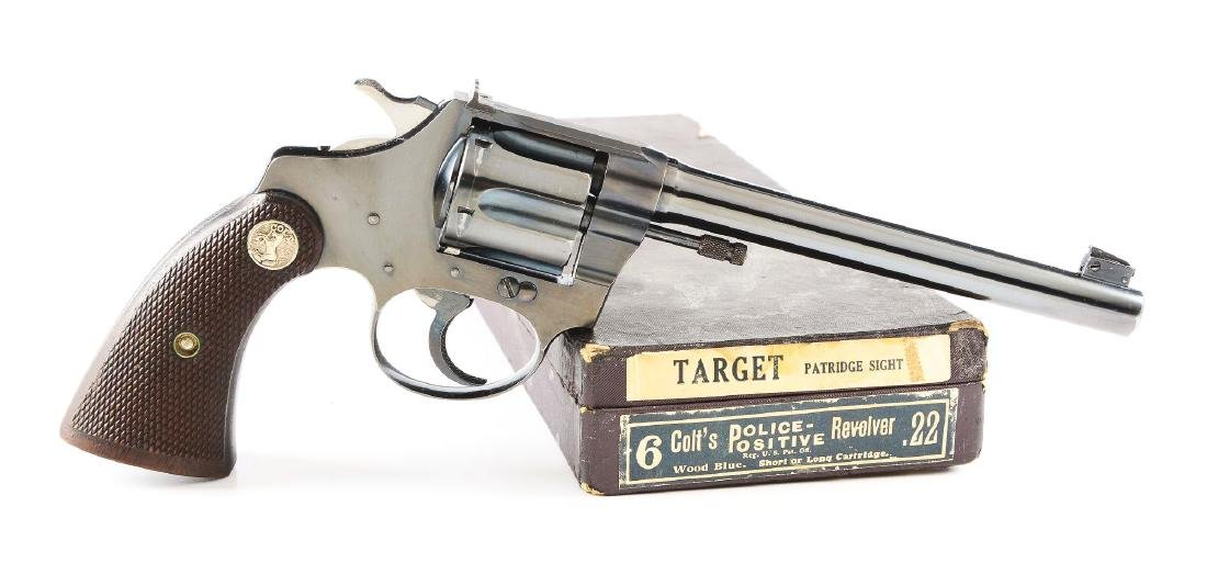 (C) Boxed Pre-War Colt Police Positive .22 Double